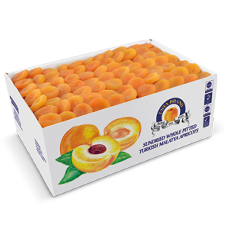 Dried Apricots Carton Boxes 12,7kg/12,5 kg - Usta Food Industry Agricultural