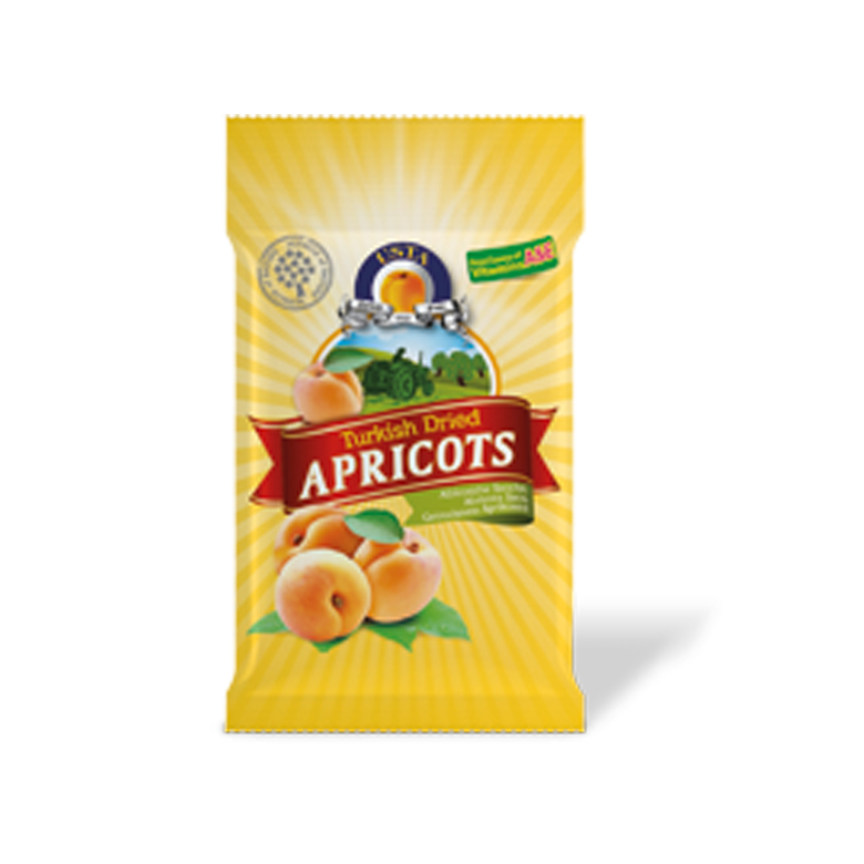 Dried Apricots Pillow Cellobags 200/ 250 g - Usta Food Industry Agricultural