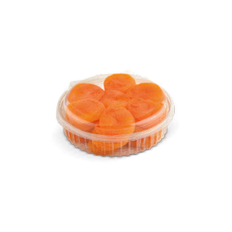 Dried Apricots PET- Round with Lid 200/250 g - Usta Food Industry Agricultural